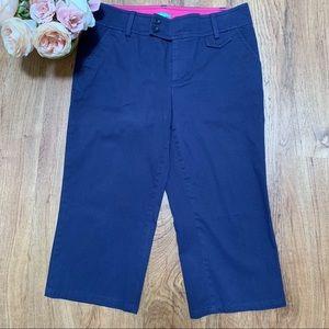 Lilly Pulitzer Palm Beach Fit Capri Pants Blue 10